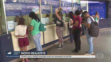 Quem usa o metrô amarga mais um aumento na tarifa - Tarifa do metrô de BH aumenta mais uma vez. É o terceiro reajuste desde maio deste ano.