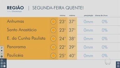 Confira a previsão do tempo para a região de Presidente Prudente - Veja como ficam as temperaturas em algumas cidades.