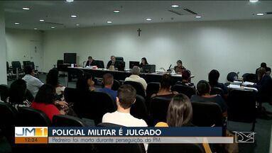 PM acusado de matar pedreiro durante perseguição é julgado em São Luís - Caso ocorreu há oito anos e parte da perseguição foi flagrada em imagens de celular.