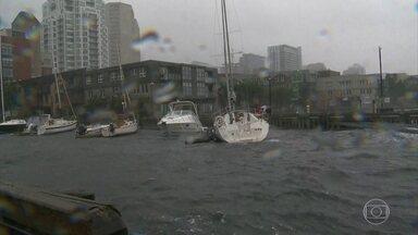 Sobe para 45 número de mortos, por causa do furacão Dorian - A tempestade agora está no Canadá. Ventos de 100km/h derrubaram até um guindaste na Nova Escócia.