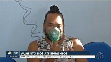 Atendimentos na rede saúde aumento por causa da fumaça - Upa e Pronto Socorro registraram movimento de até 40%