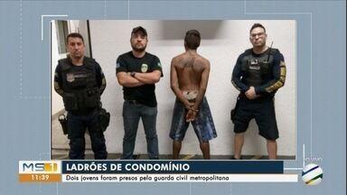 Homem é preso por furto em condomínio. Câmeras registram a ação - Receptador também foi preso pela guarda civil metropolitana