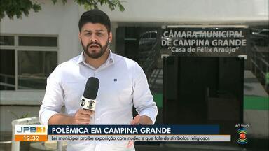 Lei municipal proíbe exposição com nudez na Paraíba - A lei também proíbe exposições ou manifestações artísticas que atinjam as religiões.