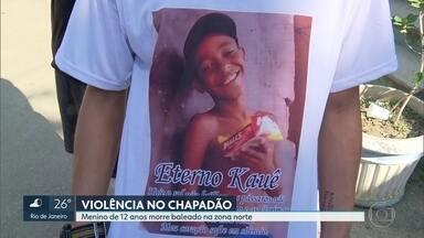 Corpo de menino baleado no Chapadão é enterrado - Kauê Ribeiro dos Santos, de 12 anos, é mais uma vítima da violência no Rio. Ele foi baleado no Complexo do Chapadão.