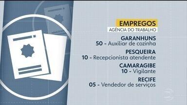 Agência do Trabalho oferece oportunidades no Recife e no interior - Há vagas de emprego para auxiliar de cozinha, recepcionista, vigilante e vendedor de serviços.