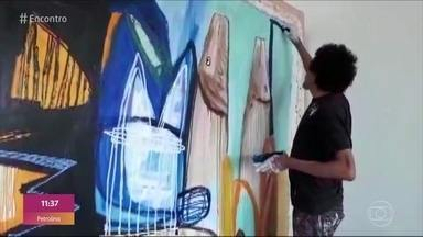 No Telão do Encontro obras do artista Jandr Reis - A fauna e a flora amazônicas são sua principal inspiração. Confira!