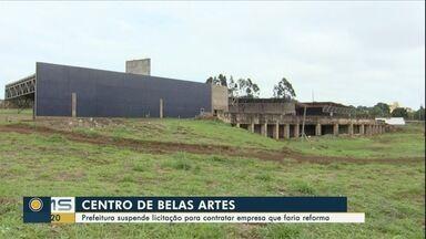 Prefeitura suspende licitação para contratar empresa para obra no Centro de Belas Artes - Prefeitura de Campo Grande suspende licitação para contratar empresa para obra no Centro de Belas Artes.