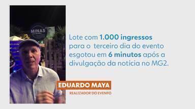 Sucesso de Público - Procura por ingressos para o 'Minas é o Mundo' foi intensa: mil ingressos esgotados em apenas 6 minutos!
