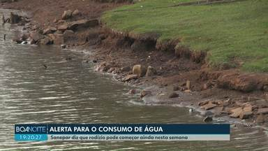 Cascavel pode entrar em esquema de rodízio de água - Volume de água de rios que abastecem Cascavel caiu 60%.