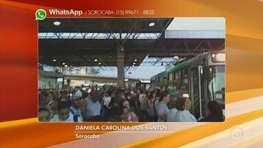 Passageiros reclamam de problemas em linhas de ônibus em Sorocaba - Passageiros do transporte coletivo reclamaram de problemas em linhas na noite de terça-feira (10).