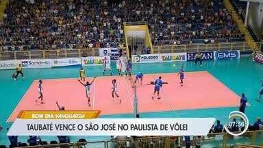 Taubaté vence o São José no Paulista de Vôlei - Taubaté segue invicto no torneio.