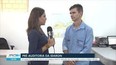 Pré-auditoria na Idaron - Rondônia na busca pelo status de zona livre de aftosa sem vacinação.