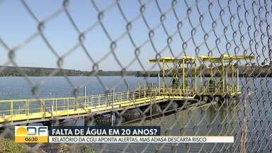 Relatório da CGU alerta sobre captação de água no DF - Porém, Adasa descarta risco do DF ficar sem água nos próximos 20 anos.