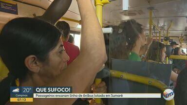 Passageiros se queixam de superlotação e atraso em linha de ônibus de Sumaré - A linha 652 sai de Sumaré e vai para a Unicamp.