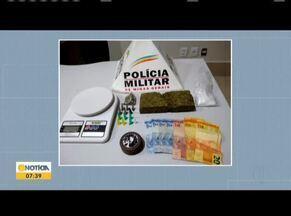 Adolescente de 17 anos é preso suspeito de tráfico de drogas em Ipatinga - O rapaz foi preso durante uma operação da PM. Na casa do suspeito, foram encontradas 500 gramas de maconha.