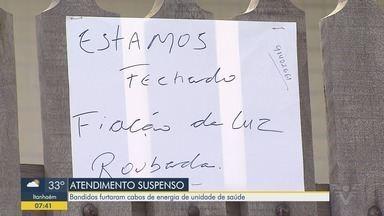 Criminosos roubam fiação de unidade de saúde de São Vicente - Unidade na Náutica III teve o atendimento interrompido após o crime.
