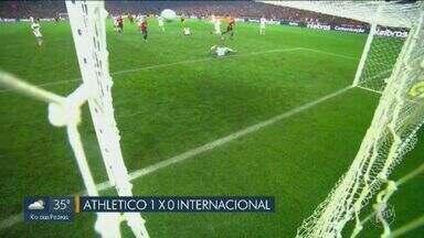 Athletico larga na frente na decisão contra o Internacional - Athletico venceu o Internacional pelo placar mínimo e vai precisar administrar vantagem em Porto Alegre (RS).