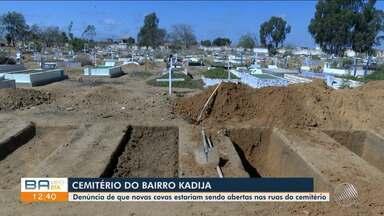 Parentes de pessoas enterradas em cemitério de Vitória da Conqusta reclamam de novas covas - Moradores do local e parentes alegam que as covas estão sendo abertas em locais que serviam de passagem para pedestres e veículos.