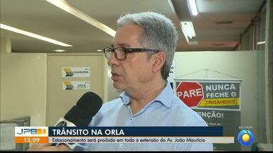 Estacionamento será proibido na Av. João Maurício em João Pessoa - A ciclofaixa será mantida.