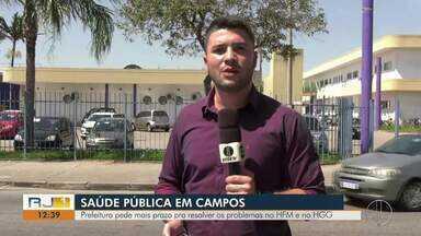 Prefeitura de Campos pede mais prazo pra resolver os problemas no HFM e no HGG - Cremerj detectou problemas nas unidades durante vistoria.