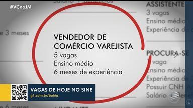 Veja as oportunidades de emprego oferecidas no Sine Bahia nesta sextta-feira - Há vagas para vendedor, auxiliar de jardinagem, entre outras.
