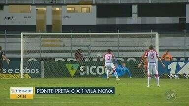 Ponte Preta perde para o Vila Nova e cai para nono lugar - Único gol da partida foi marcado por Alan Mineiro em pênalti.