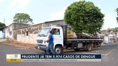Presidente Prudente ultrapassa os 5,9 mil casos de dengue - Prefeitura realiza ações pelos bairros.