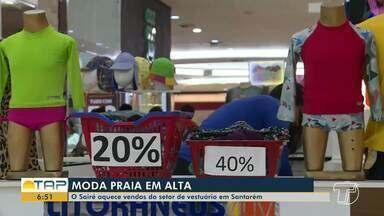 Sairé aquece vendas de moda praia em Santarém e em Alter do Chão - Lojas do ramo se preparam e abastecem os estoques para garantir clientes.