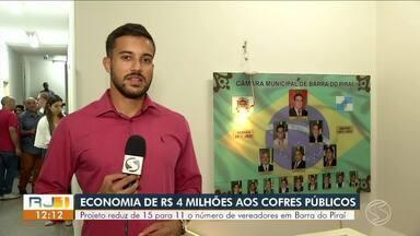 Projeto de redução de vereadores de Barra do Piraí é aprovado em primeira votação - Proposta reduz de 15 para 11 o número de vereadores na cidade.