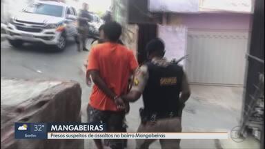 Presos suspeitos de assaltos no bairro Mangabeiras - A polícia prendeu suspeitos de participação em uma tentativa de assalto em um mirante do bairro Mangabeiras, região Sul da capital.