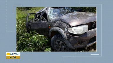 Jovem morre e cinco pessoas ficam feridas em acidente de trânsito em Uiramutã - Acidente ocorreu na comunidade indígena Cantagalo, na região de Surumu.