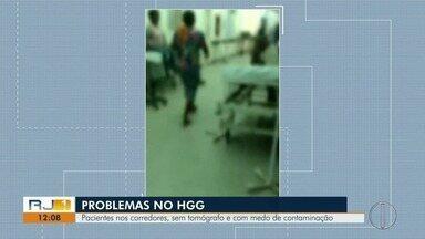 HGG, em Campos, tem problemas no atendimento aos pacientes e sofre com falta de tomógrafo - Imagens mostraram pacientes nos corredores da unidade.