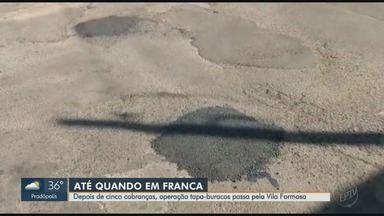 Após cinco cobranças, operação tapa-buracos chega à Vila Formosa em Franca, SP - Cruzamento entre as ruas Coronel Tamarindo e Afonso Pena está mais seguro.