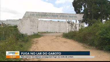 Adolescentes fogem do Lar do Garoto, em Campina Grande - Pelo menos 10 internos conseguiram fugir