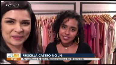 Pri no JN: Veja como a jornalista escolhe a roupa para apresentar o jornal - Priscilla é acompanhada pela produtora de moda da TV Liberal Sabrina Sany.