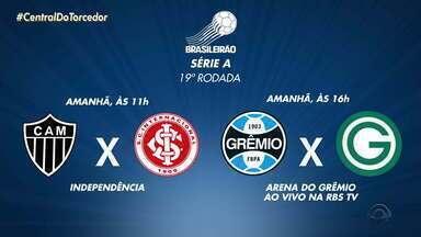 Confira os jogos da dupla Gre-Nal pelo Brasileirão neste fim se semana - Assista ao vídeo.