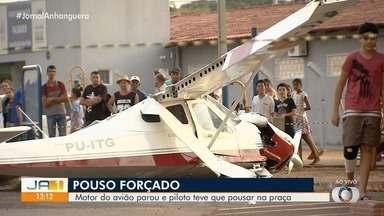 Perícia investiga causas de pouso forçado em Trindade - A Polícia Civil está ouvindo depoimentos dos pilotos.