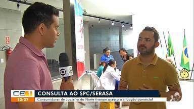 Consumidores fizeram consulta a dívidas em Juazeiro do Norte - Saiba mais em g1.com.br/ce