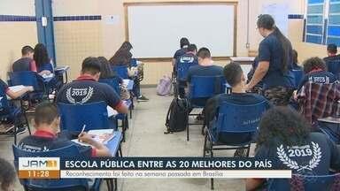 Escola pública do Amazonas está entre as 20 melhores do país - Reconhecimento ocorreu na semana passada em Brasília.