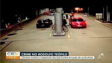 Câmeras mostram assassinato de dois jovens em posto de combustível - Saiba mais em g1.com.br/ce