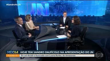 Hoje tem Sandro Dalpícolo na apresentação do Jornal Nacional - Ele vai dividir a bancada com Luana Borba, do Amazonas
