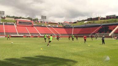 Vitória se prepara para estreia na Arena Fonte Nova, neste sábado - Rubro-negro vai enfrentar o Guarani, lanterna da série B.