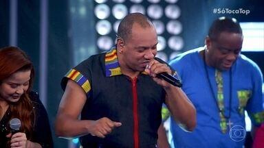 Molejo canta 'Dança da Vassoura' e Samba Diferente' - Maiara e Maraisa caem na dança junto com a plateia do 'SóTocaTop'