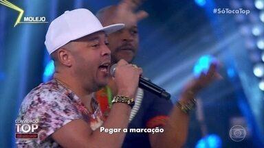 Molejo canta 'Samba Rock do Molejão' - A banda anima a plateia do 'SóTocaTop'