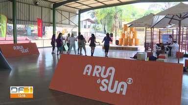 """""""A Rua é Sua"""" esteve neste sábado (14) na Candangolândia - No domingo (15), o projeto da Globo vai estar no Parque de Águas Claras."""