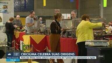 Festa das Etnias reúne em Criciúma cultura e gastronomia de colonizadores da região - Festa das Etnias reúne em Criciúma cultura e gastronomia de colonizadores da região