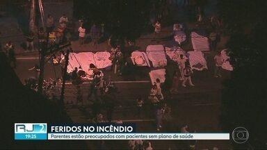 Feridos no incêndio do Hospital Badim continuam internados em doze hospitais do Rio - Sem plano de saúde, alguns vivem a incenteza de poder continuar o tratamento nos hospitais onde estão.