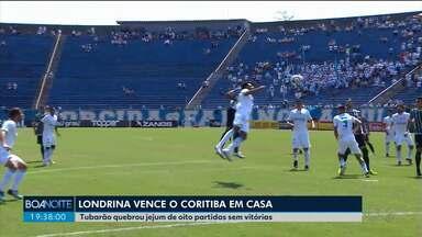 Coritiba perde de virada para o Londrina pela série B - Jogo terminou em 2 a 1 para o Tubarão.
