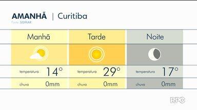 Tempo fica firme no domingo em Curitiba e região - No litoral há chance de chuva.