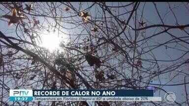 Calor recorde em Floriano, no Piauí, alcança os 40º e umidade abaixo de 20% - Calor recorde em Floriano, no Piauí, alcança os 40º e umidade abaixo de 20%